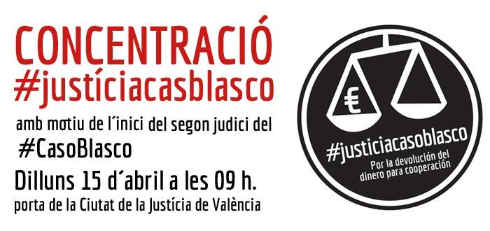 CONCENTRACION ANTE EL INICIO DEL SEGUNDO JUICIO DEL CASO BLASCO